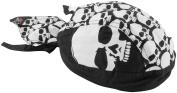 Zan Headgear Z525 Flydanna 100 Percent Cotton Big White Skull Heads
