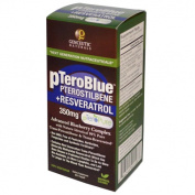 Genceutic Naturals 0397190 pTeroBlue Pterostilbene Plus Resveratrol - 350 mg - 60 Vcaps