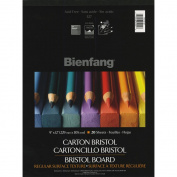 Bienfang Bristol Board Paper Pad 23cm x 30cm -20 Sheets