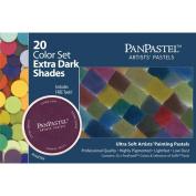 PanPastel Ultra Soft Artist Pastel Set 9ml 20/Pkg-Extra Dark Shades Set