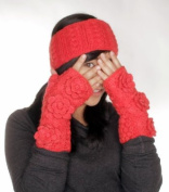 Nirvanna Designs HB03 Cable Headband with Fleece Lining - Rouge