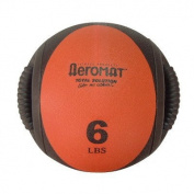 Aeromat 35131 Dual Grip Power Med Ball- Black- Red