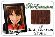 Brybelly Holdings PRFR-6 No. 6 Medium Chestnut Brown Pro Fringe Clip In Bangs