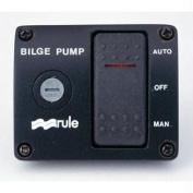 Rule 3-Way Bilge Panel Lighted Rocker Switch Panel, 12V