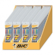 Bic Corporation BICMPP56 Mechanical Pencils- 0.7mm- 72-DS- Black Barrel-Asst- Pckt Clip