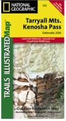 National Geographic TI00000105 Map Of Tarryall Mountains - Colorado