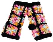 Nirvanna Designs MT13F ML Multi Colour Flower Crochet Hand Warmers