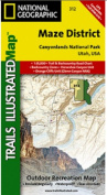 National Geographic TI00000312 Map Of Canyonlands - Maze District - Utah