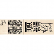 Inkadinkado Mounted Rubber Stamp Set 27pc-Wine Tag