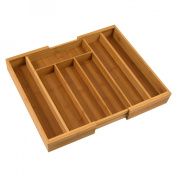 Honey-Can-Do International KCH-01079 Bamboo expandable cutlery tray