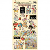 Heartwarming Vintage Cardstock Stickers 15cm x 30cm Sheet-School Time