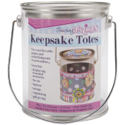 Darice 121263 Keepsake Totes Clear Paint Can 4X5