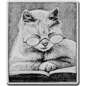 Stampendous CRV239 Stampendous Cling Rubber Stamp-Cattus Librum