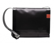 Aaron Irvin Design AA-MMB-BK Microfiber Messenger Bag - Black
