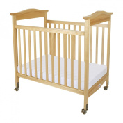 Foundations 1832040 Foundations Biltmore Compact Crib Natural Fixed-Side with Adjustable Mattress Board Clearview Ends