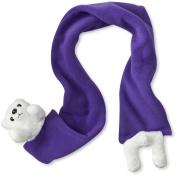 BearHands S-POBE-DPUR Scarf Fleece Polar Bear on Dark Purple