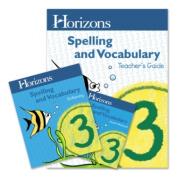 Alpha Omega Publications JSC300 Horizons Spelling & Vocabulary Grade 3 Set