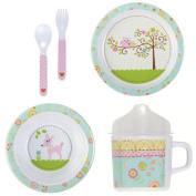 C.R. Gibson Llc Happi Baby Girl Melamine Dinnerware Set