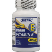 Deva Vegan Vitamins Natural Vitamin E 400iu with Mixed Tocopherols, 90-Count