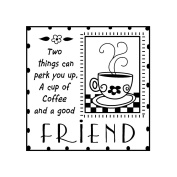 Inkadinkado ICMSAA-30083 Inkadinkado Clear Mini Stamps-Good Friends
