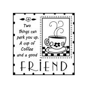 Inkadinkado ICMSAA-30083 Inkadinkado Clear Mini Stamps-Good Friends