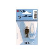 Fix-A-Zipper 3055-7 ZlideOn Zipper Pull Replacements Coil 5-Old Brass