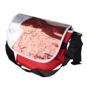Blancho Bedding MB-JX832-RED Fashion Icon - Red Multi-Purposes Messenger Bag / Shoulder Bag