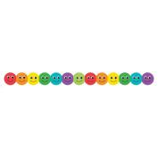 Classroom Diecut Borders 7.6cm x 90cm 12/Pkg-Smiley Face Assorted Colours