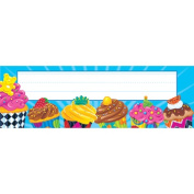 Trend Enterprises Inc. T-69211 Bake Shop Cupcakes Desk Toppers Name Plates