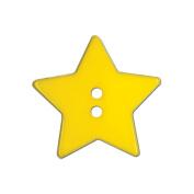 Slimline Buttons Series Funtastics -Yellow Star 2-Hole 2.5cm - 0.3cm 2/Card