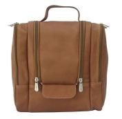 Piel Leather 2460 Hanging Travel Toiletry Kit - Saddle