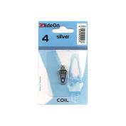 Fix-A-Zipper 3040-3 ZlideOn Zipper Pull Replacements Coil 4-Silver