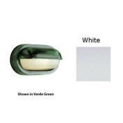 Trans Global Lighting 4125 WH The Standard 1 Light Outdoor Oval Eye Brow Bulkhead - White