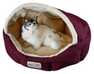 Aeromark C08HJH-MH Armarkat Pet Bed Cat Bed 18 x 14 x 11 - Burgundy & Beige
