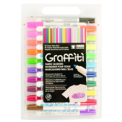 Uchida 560-30A Graffiti Fabric Marker Value Set 30-Pkg-