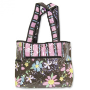 Trend Lab Blossoms Tulip Tote Bag with Changing Pad