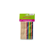 Bulk Buys CC504 Multi-colour grooved craft sticks Case of 25