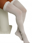 ITA-MED Graduated Compression Thigh Highs Anti-Embolism Compression 18 mmHg, X Large, White