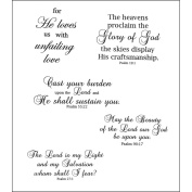 Heartfelt Creations 483671 Heartfelt Creations Cling Rubber Stamp Set 13cm . x 17cm . -Uplifting Scriptures