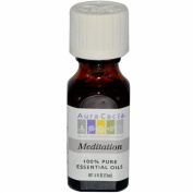 Aura Cacia 0906362 Essential Oil Blend Meditation - 15ml