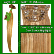 Brybelly Holdings PRRM-20-2427 No. 24-27 Medium Blonde with Dark Blonde Highlights- 50cm Remi