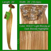 Brybelly Holdings PRRM-20-2427 No. 24-27 Medium Blonde with Dark Blonde Highlights- 50cm Remi