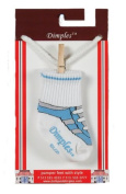 Dimples 689076847766 Gym Shoe Socks - Light Blue