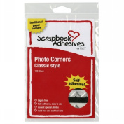 3L Corp 3L-PC-1627 Classic Style Paper Photo Corners .5 Self Adhesive 126/Pkg