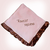 Pam Grace Creations BL-SWEET SWEET DREAMS SATIN-TRIM PINK BLANKET - pink
