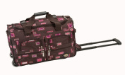 Rockland PRD422-Chocolate 22 in. Rolling Duffle Bag