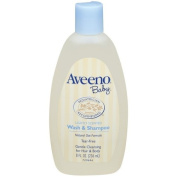 Aveeno Baby Wash & Shampoo, Lightly Scented, 240ml Bottle