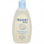 Aveeno Baby Wash & Shampoo, Lightly Scented, 240ml Bottle