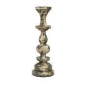 IMAX CORPORATION 84318 Armida Large Carved Wood Candleholder