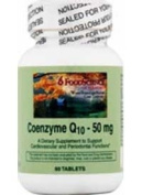FoodScience of Vermont CoEnzyme Q10 CoEnzyme Q10 Sublingual 50 mg 60 tablets 208542